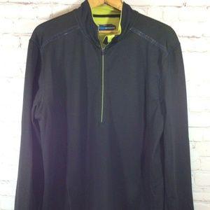 Mondetta Sz XL 1/2 Zip Black Athletic Pullover